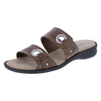 Comfort Plus By Predictions Womens Percy Sandal - Wide Width
