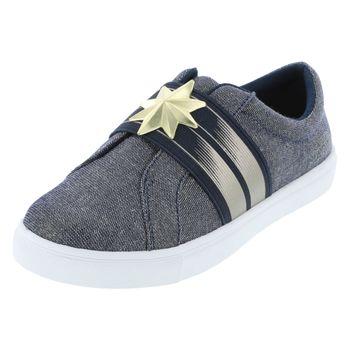 Marvel Entertainment Girls Captain Marvel Shimmer Slip-On Sneaker