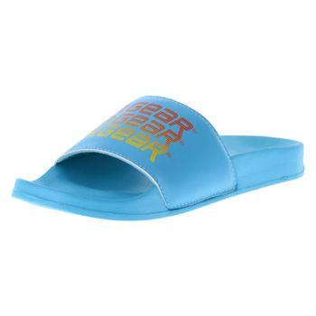LA Gear Womens Retro Repeat Slide Sandal