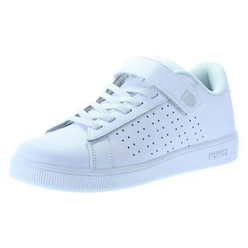 K-Swiss Boys Casper Velcro Court Sneaker