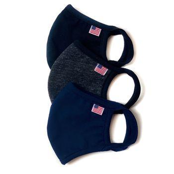 Good Day Masks Adult 3-Pack Solid Face Mask - Large