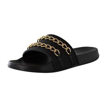 Mudd Womens Billie Chain Slide Sandal