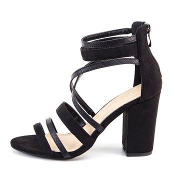 Nicole Miller Womens Uman Strappy Block Heel