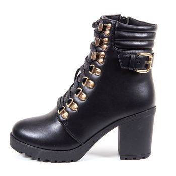 NICOLE MILLER WOMENS GONZO LACE-UP BOOTIE
