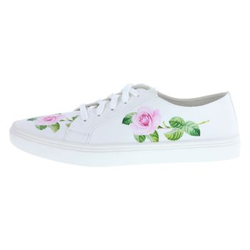 Fioni Womens Alena Spot Floral Sneaker