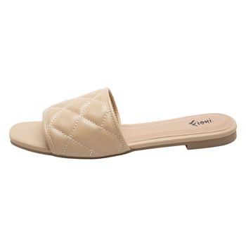 Fioni Womens Monet Quilted Slide Sandal