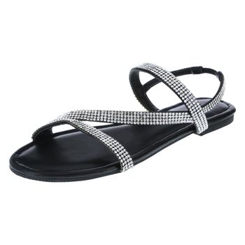 Brash Womens Margarita Strappy Flat Sandal