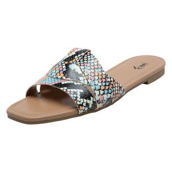 Fioni Womens Riverside Slide Sandal