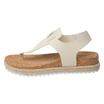 Dexflex Comfort Womens Sophie Footbed Thong Wedge Sandal
