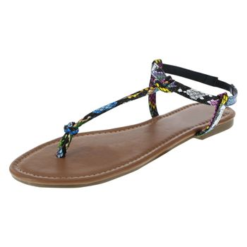 Montego Bay Club Womens Meade Knot Thong Sandal