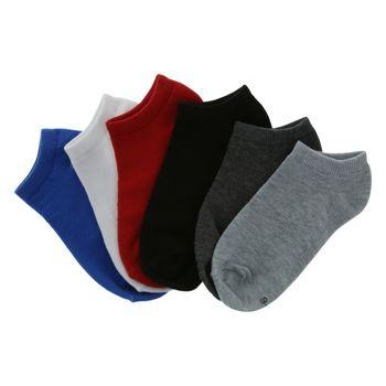 Zoe & Zac Boys 6 Pack Print Novelty Low Cut Socks