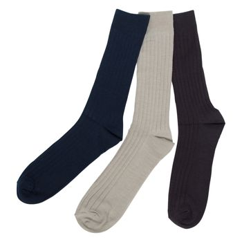Hunter's Bay Mens 3Pk Dress Casual Crew Socks