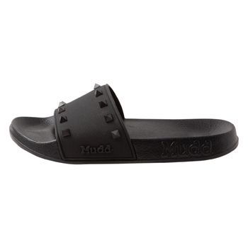 Mudd Womens Billie Studded Slide Sandal