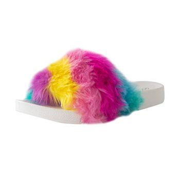 Mudd Girls Furry Pool Slide Sandal