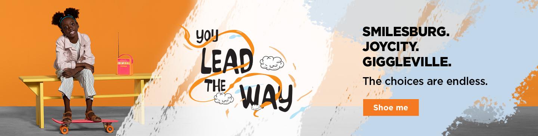 You lead de way