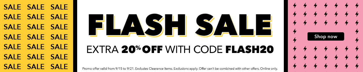 Flash sale extra  20% off